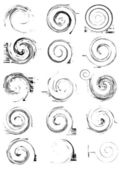 Collection of vector swirl elements — Stock Vector