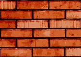 Vector brick wall — Stock Vector