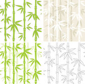 Seamless vector backgrounds with bamboo — Stock Vector