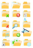 Set of vector folder icons — Stock Vector