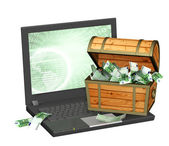 Earnings in the Internet — Stock Photo