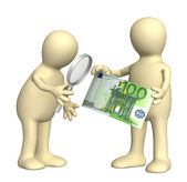 Authentication of the banknote — Stock Photo