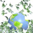Earth and money — Stock Photo