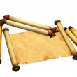 Scrolls of old parchment — Stock Photo