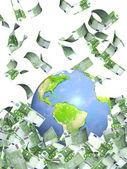 Tierra y dinero — Foto de Stock