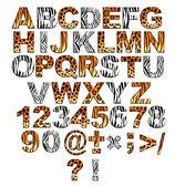 3d písmo ve stylu safari — Stock fotografie