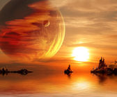 Fantasy sunset — Stockfoto