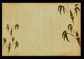 Ancient Japanese reed mat — Stock Photo