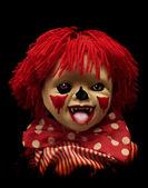 Dark series - spooky clown — Stock Photo