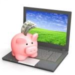 Electronic bank account — Stock Photo
