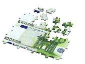 Euro puzzle — Stock Photo