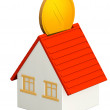 Foto Stock: House and gold coin