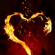 Stock Photo: Burning heart