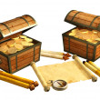 Pirate treasure — Stock Photo