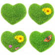 Green hearts — Stock Photo