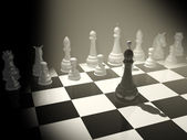 Chess. One against all — Stock Photo
