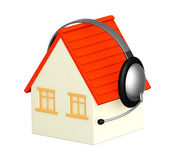 House with headphone — Stock Photo