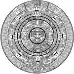 Vector Maya calendar — Stock Vector #5284594