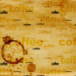 Paper texture with drops of coffee — Photo