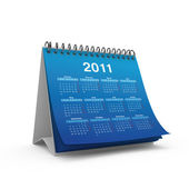 Desktop calendar for 2011 year — Stock Photo