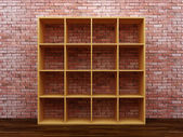 Empty bookshelf — Stock Photo