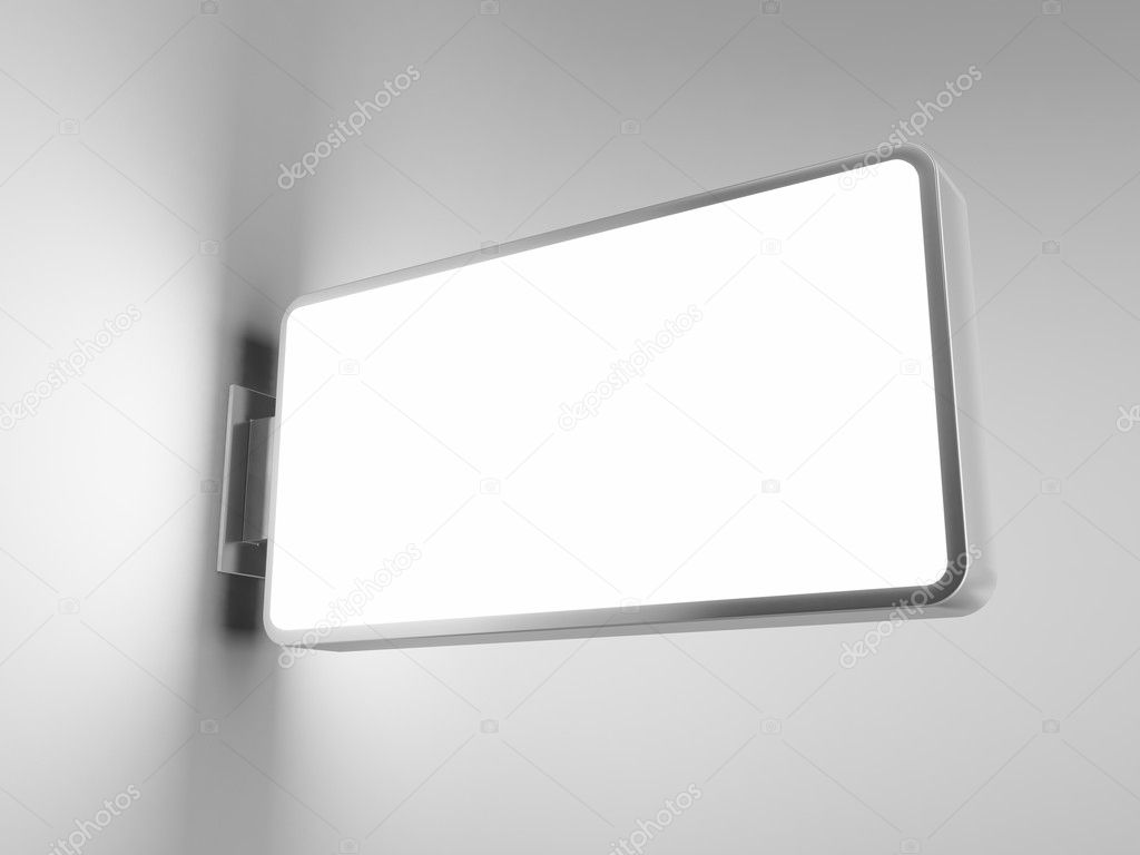 Blank advertising billboard on gray background — Stock Photo #4172670