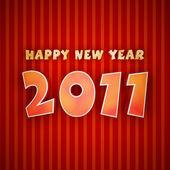 Coloridas palabras de feliz año nuevo 2011 — Foto de Stock