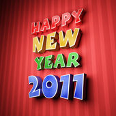 Colorful words of happy new year 2011 — Stock Photo