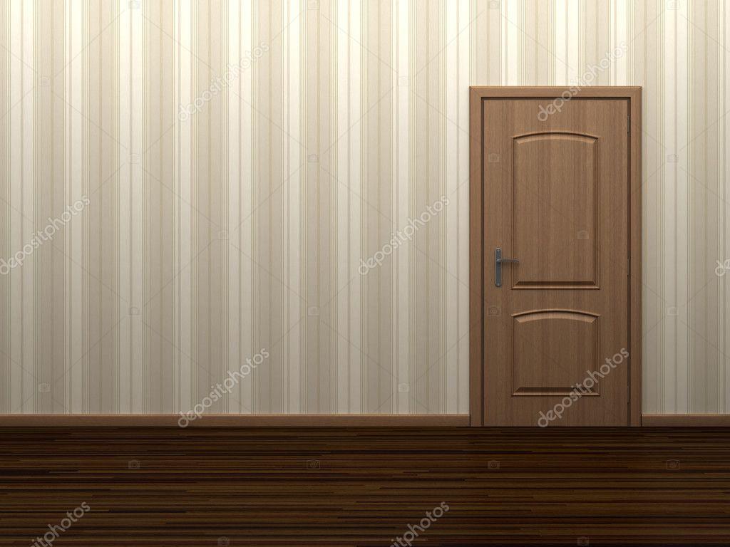 Stock Room Doors : Empty room with door — stock photo shenki