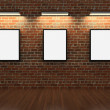 Frames on brick wall — Stock Photo #5148545