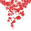 Falling red cubes with percent — Stock Photo #5334344