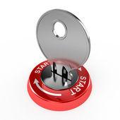 Key in the lock — Stock Photo