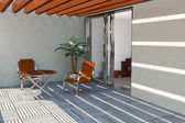 Modern home terrace — Stock Photo