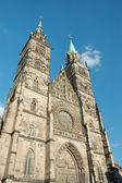 Evangelical Lutheran St.Lorenz Church in Nuremberg,Germany — Stock Photo