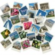 Stock Photo: Go Greece - background with travel photos of famous landmarks