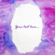 Watercolor hand painted background with empty space for text — Stock Photo