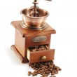 Old coffee grinder on white background — Stock Photo #4311255