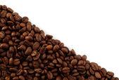 Coffee beans diagonal empty frame — Stockfoto