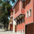 Medieval street of old city center in Plovdiv,Bulgaria — Stock Photo