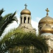 Domes of the Theotokos Cathedral in Varna, Bulgaria,Balkans — Stock Photo