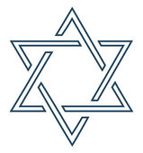 Jewish star design on white background - vector illustration — Stock Vector