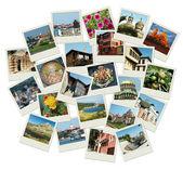 Ir a bulgaria - fondo con viajes fotos de famosos — Foto de Stock