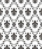 Seamless damask royal vector texture with fleur-de-lis — Stock Vector