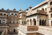 Yard of the Raj Mahal palace at Orcha ,India, — Stock Photo