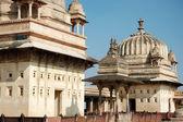 Yard of the Raj Mahal palace at Orcha ,India — Stock Photo
