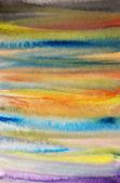 Acuarelas pintadas rayas fondo de arte para scrapbooking — Foto de Stock