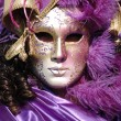 Mask at St. Mark Square,Venice carnival 2011 — Stock Photo