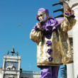 Stock Photo: Mask at St. Mark's Square,Venice carnival 2011