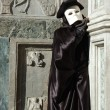 Stock Photo: Costume of Casanov,Venice carnival,Italy,2011