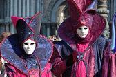 Masks at St. Mark's Square,Venice carnival 2011 — Stock Photo